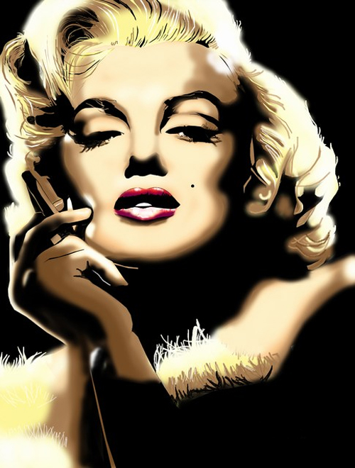 Airbrush marilyn monroe artworks illustrations