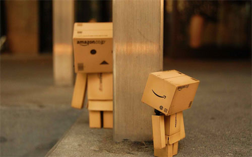 Danbo Hiding_89355 Wallpaper