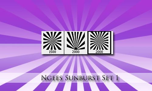 Ngees Sunburst brush Set