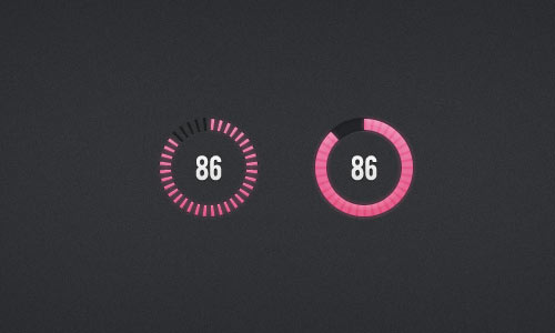Circular Progress Bars (PSD)