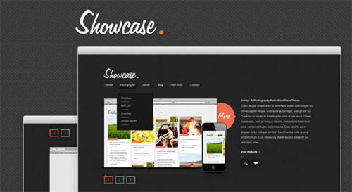 Showcase - A Free Website PSD Template - free website psd templates