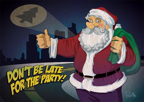 Funny santa claus christmas artworks illustrations