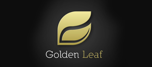 Gold leaf logo