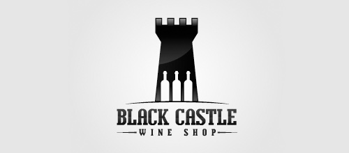 Wine shop castle logo