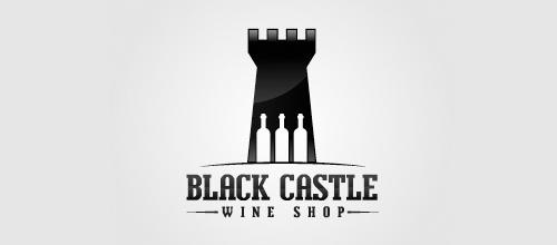 Wine shop castle logo