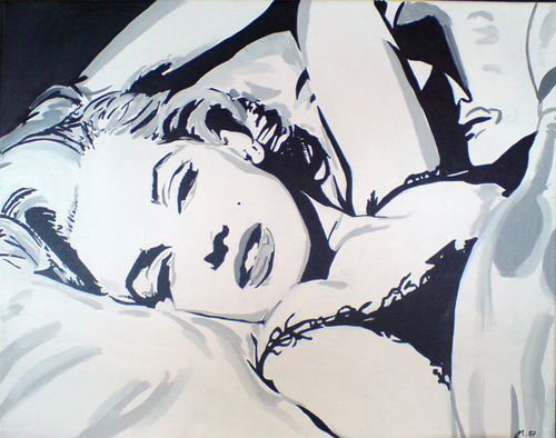 Black and white marilyn monroe artworks illustrations