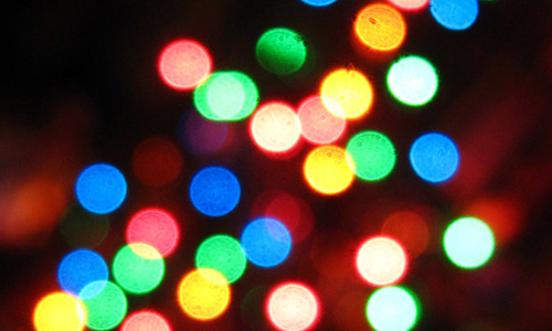 Colorful bokeh lights christmas textures