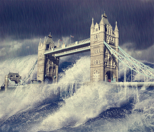 Flood end world illustrations
