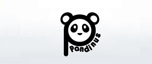 Head face panda logo