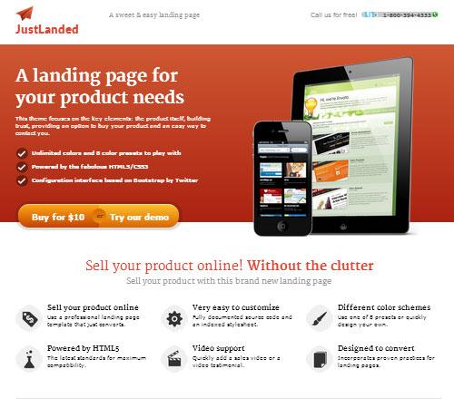 JustLanded - Landing Page