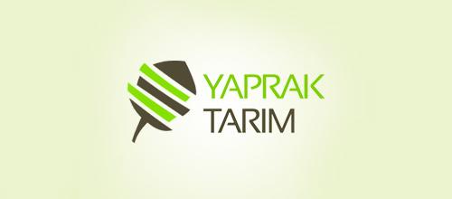 Clever funny leaf logo