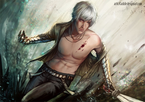 Handsome swordsman artworks illustrations