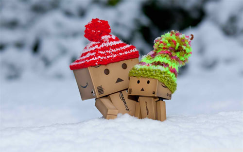 Danbo in Snow_92522 Wallpaper