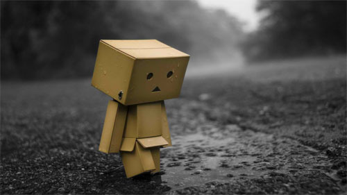 Sad Danbo colorsplash_41927 Wallpaper