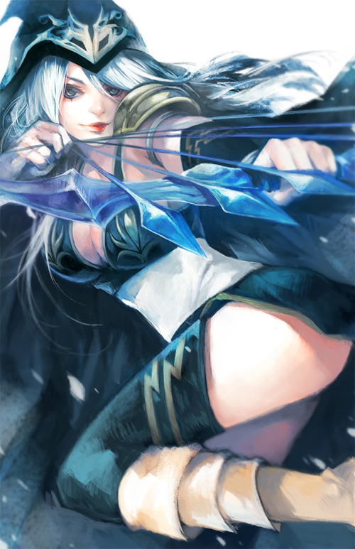 lol ashe frost archer illustrations artworks drawings