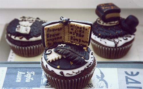 Dark book cupcake design inspiration