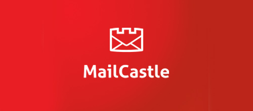 Mail letter castle logo