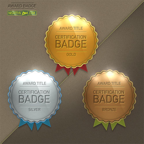 badge awards psd