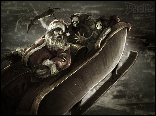 Ripper santa claus christmas artworks illustrations