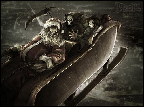Ripper santa claus christmas artworks illustrations
