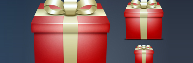 30 Appealing Gift Icon for Free Download