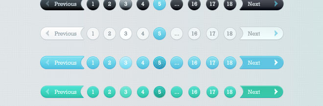 30 Captivating Pagination (PSD) Files for Free