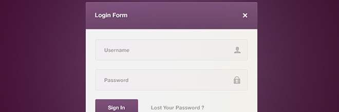 37 Free and Eye-catching PSD Login Forms