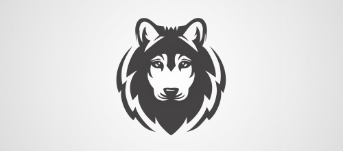 head wolf logo design