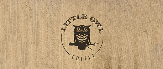 Coffee brown owl logos
