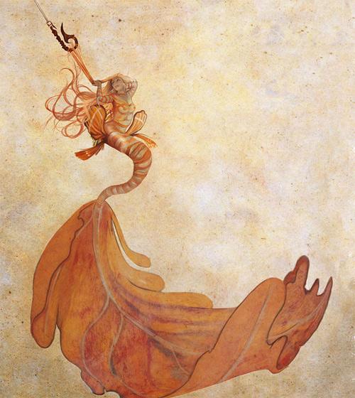 Entangled hooked mermaid illustrations artworks