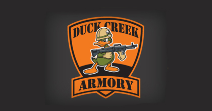 Gun ducks logo design