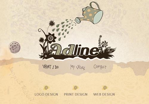 Plants nature doodle web design