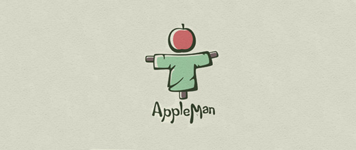 Scarecrow apple logo