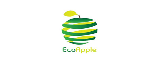 Spiral green apple logo