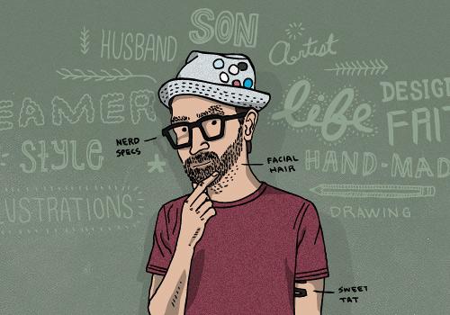 Nerd doodle web design