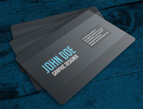 Simple Gray Business Card