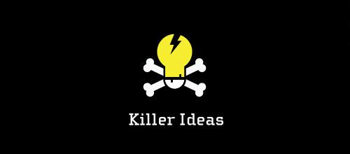 Bulb skull logo