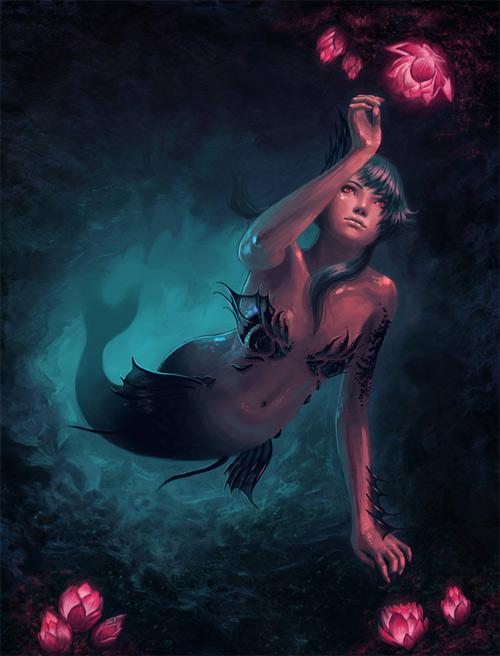 Beautiful mermaid illustrations artworks