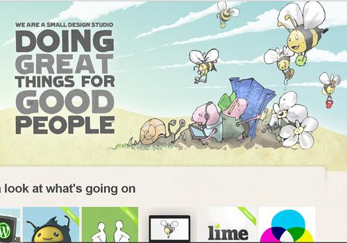 Header bee doodle web design