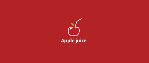 Red juice apple logo