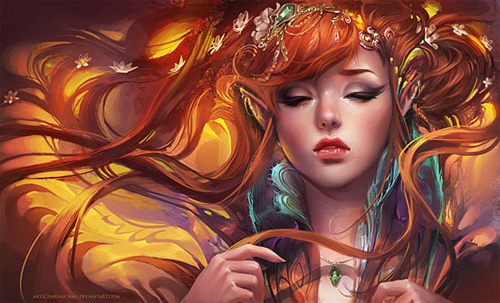 Stunning elf elves illustrations artworks