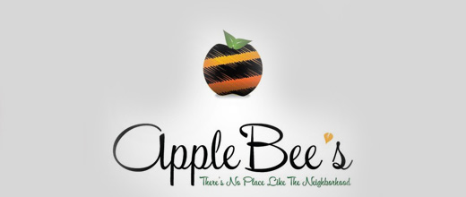 Bee apple logo