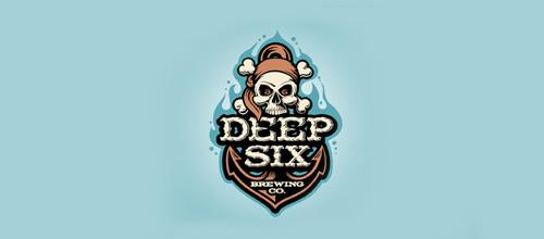 Beer brewery skull logo