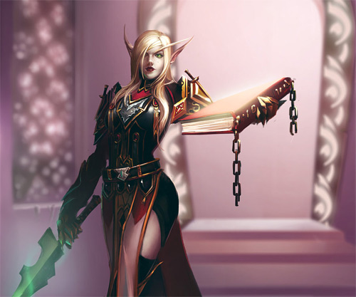 Blood elf elves illustrations artworks