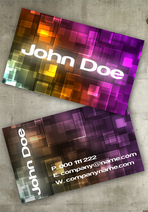Bokeh II Business Card