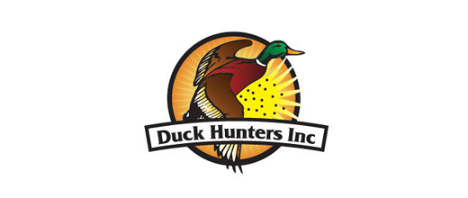 Hunt ducks logo design