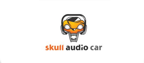 Car skull logo