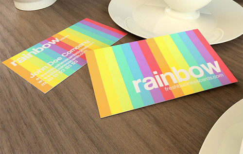 Rainbow Business Card Template