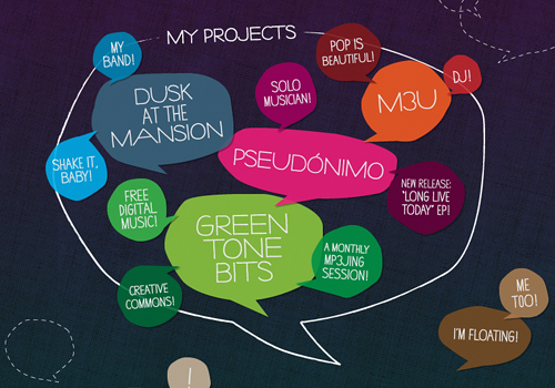 Speech balloon bubble message doodle web design