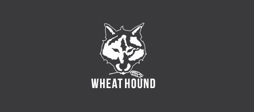 wheat wolf logo design